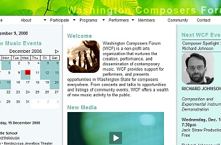 washington composers forum website
